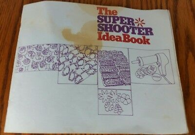 Wear Ever Super Shooter cookie replacement part 70001 Instruction Book