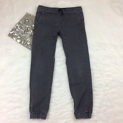 Charles And A Half Tillys Boys Twill Jogger Pants Size S 28 Charcoal Grey Casual