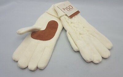 Isotoner white Ivory Thinsulate Gloves One Size