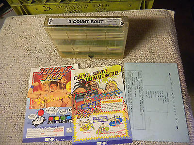 3 COUNT BOUT WITH ART     mvs neo geo cartridge arcade game