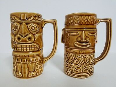 Vintage Hawaiian Inn Daytona Beach Tiki Ceramic Cups
