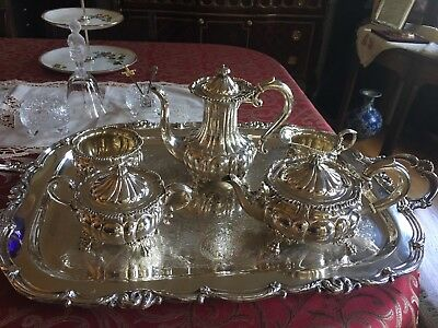 Howard & Company of New York, Fine Antique 1898 Sterling Silver Tea Set 5 pieces
