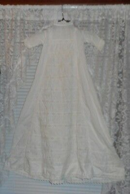 Antique Christening Gown Baby  VICTORIAN DOLL DRESS   BEAUTIFUL!!