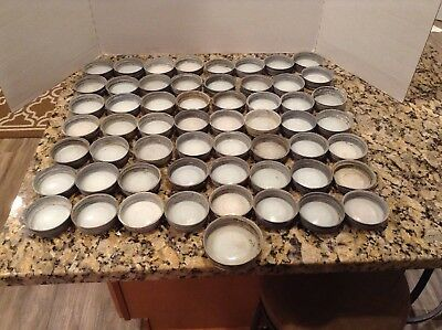Vintage Lot Ball Canning Jar Zinc Glass Lids w/ glass 56 pcs.
