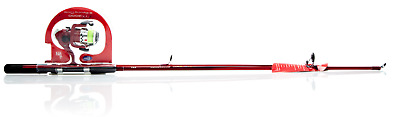 Force Ten Spin Fishing Combo  ( color Red ) 6'