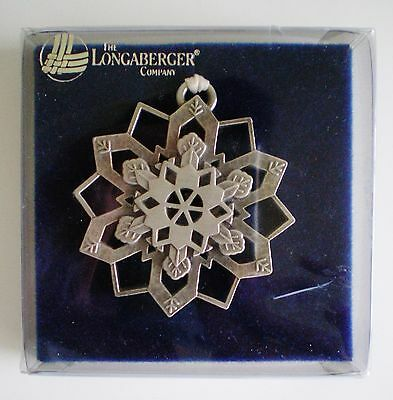 Longaberger Pewter Snowflake Ornament New In Box