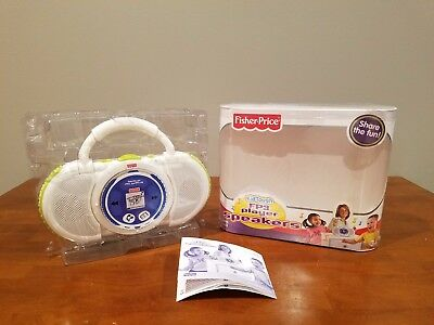 Fisher Price Kid Green Tough Fp3 Player Speakers Lightweight With Handle