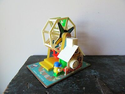 Fisher Price Toys Vintage 1966 Music Box Ferris Wheel Made in USA #969 Works Gre
