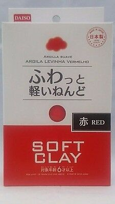 DAISO JAPAN DIY Soft Clay  RED Made in   JAPAN  F/Shipping