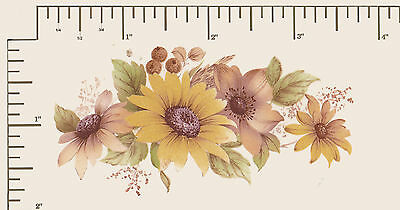 "4 x Waterslide ceramic decals Decoupage Yellow Daisies  3 1/2"" x 1 1/2""  #5"