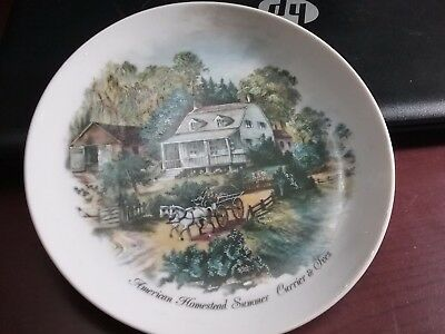 """Currier and Ives 6"""" American Homestead Summer Plate made in Japan"""