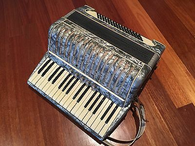 Vintage Piano Accordion F A Grunert & Sohne Pearl Casing Germany 1941