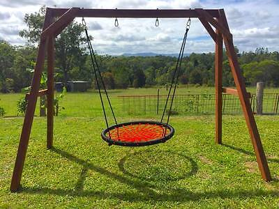 Classic Wooden Double Swing Set.
