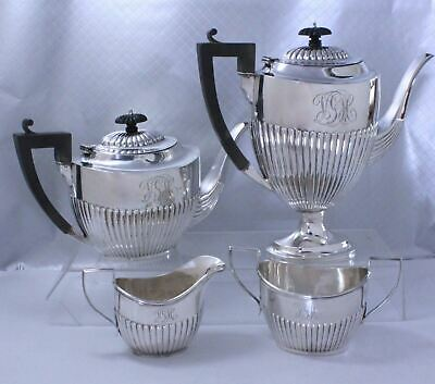 Birks Sterling Silver Coffee Tea Set Federal Style