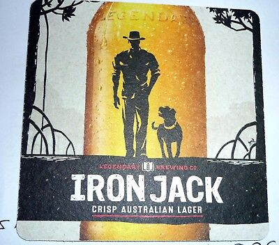 Collectable beer coasters: Iron Jack Crisp Australian Lager beer coaster (SA)
