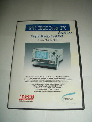 AEROFLEX Racal 6113E EDGE Digital Radio Test Set USER GUIDE ON CD