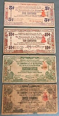 Philippines WWII Emergency & Guerrilla 4 notes from Negros Occidental Province