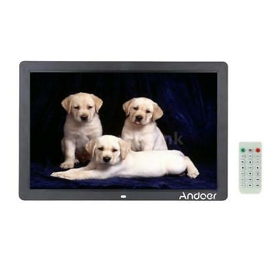 """17"""" LED Digital Photo Picture Frame Alarm Clock MP3/4 Player Christmas Gift E7H4"""