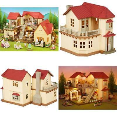 Sylvanian Families 2 Storey Home Beechwood Hall Walnut Squirrel Family Kids Gift