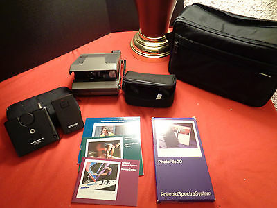 Polaroid Spectra System w/All Kinds Of Goodies & 1 NEW Film  NEAR MINT - TESTED!