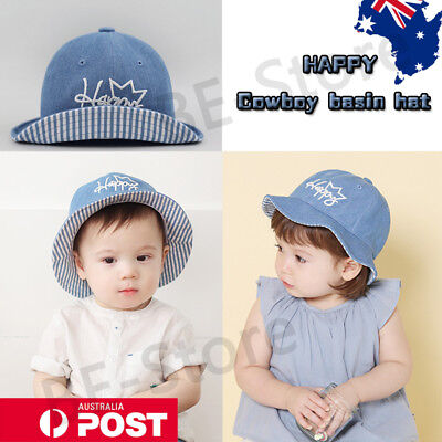 New Baby Toddler Boy Girl Infant Bucket Sun Hat Summer Cap Beach Outdoor