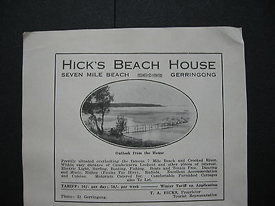 Hick's Beach House Seven Mile Beach Gerringong  T A Hicks