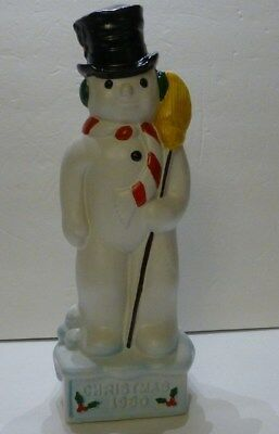 Mount Hope Winery Snowman Decanter  Christmas 1980 Very Limited Edition