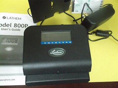 Lathem 800P Time Clock Electronic Recorder New In Open Box With Manual