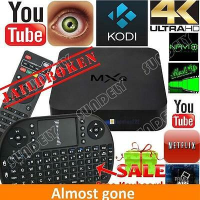 MXQ quad-core android TV box Cody sports movie movie live mouse and keyboard UK
