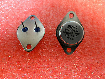 2N3055 NPN Power Silicon Transistors TO-3 - 70 Volt 15 Amp - Quantity of 2