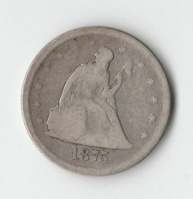 1875-S Seated Liberty Silver Double Dime 20 Cent Piece Type Set Coin!