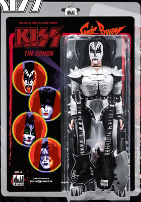 """KISS 12"""" Action Figure The Demon Blood Spitting Sonic Boom Deluxe Version"""