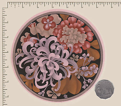 "1 x Ceramic decal. Circle. Flowers Floral Plate size 6"" (150mm) PD835"