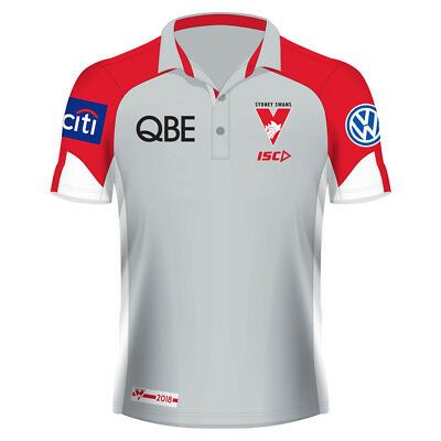Sydney Swans 2017 Performance Polo Shirt Sizes S - 3XL AFL ISC In Stock Now!