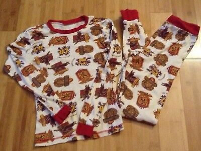 "Harry Potter Pajamas PJ 2 Piece Sz 12-13 Years/ 62"" Height Gryffindor Quidditch"