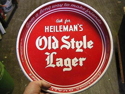 Red Heileman's Old Style Lager beer tray