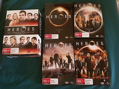 dvd box set heroes the complete collection seasons 1 - 4 regions 2,4 and 5