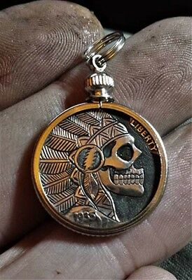Coalburn classic Hobo Nickel  OHNS Grateful Dead bolted chief skull pendant