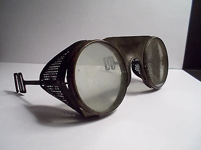 Antique Strauss & Buegeleisen N.Y. Resistal Safety Goggles - Marked: S & B N.Y.