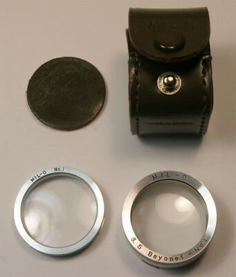 Mil-O 3.5 Bayonet No.1 for Rollei Rolleiflex  Yashica TLR  near mint