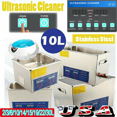 750ML-30L Pro Digital Ultrasonic Cleaner Machine with Timer Heated Cleaning US