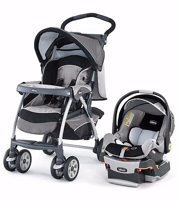 Chicco Cortina KeyFit 30 Travel System (Bella and Graphica Covers, Used)