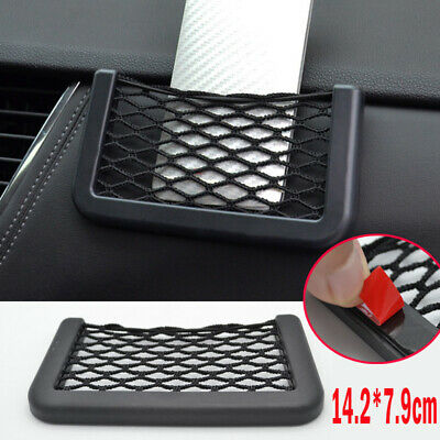Car Storage Mesh Net Resilient String For Phone GPS Bag Holder Organizer Pouch