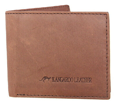 Barmah Kangaroo Leather 1 Fold Wallet - Hickorystone