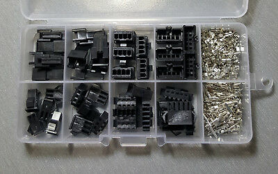 190pcs SM2.54 Connector Kit 2p 3p 4p 5pin 2.54mm Pitch and M/F Crimp Pins