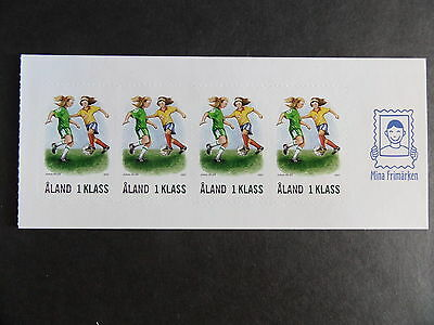 Aland 2007 Girls Football SG300 from booklet MNH UM unmounted mint