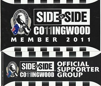 2011 COLLINGWOOD MEMBER & SUPPORTER GROUP STICKERS - MINT! magpies