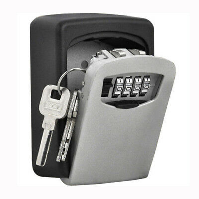 Key Cabinet Security Outdoor Double Wall Mount Key Safe Box Secure Lock Outside