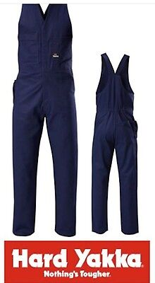 Yakka action back overalls navy 82R