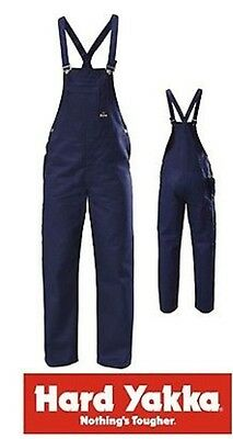 yakka bib and brace overalls navy 82R